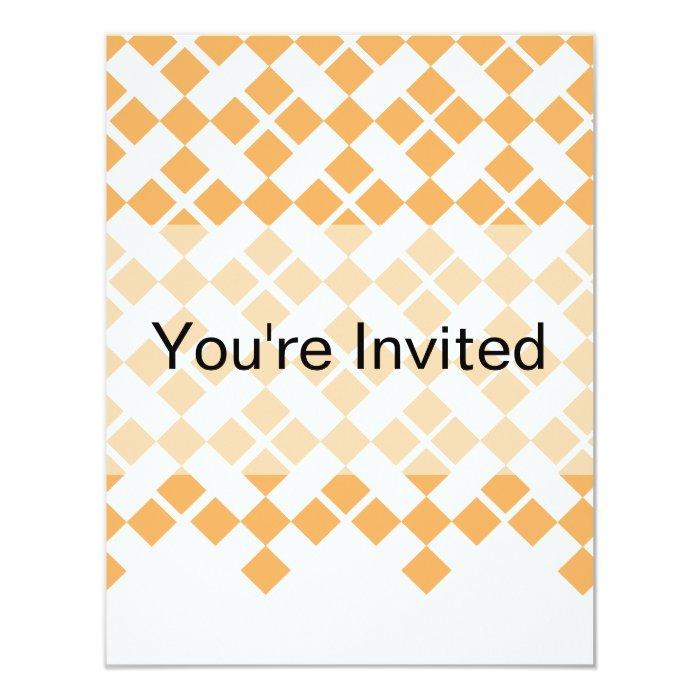 Orange Plaid Card