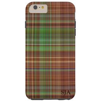 Orange Plaid Design iPhone case