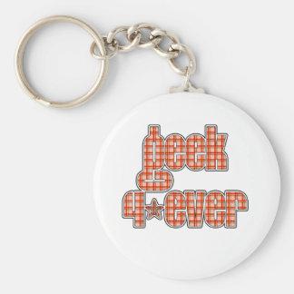 Orange Plaid Geek 4ever Key Chains