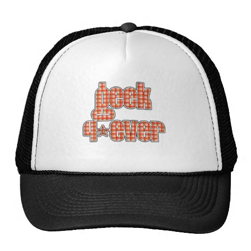 Orange Plaid Geek 4ever Trucker Hat