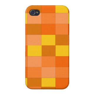 orange plaid iphone 4 case