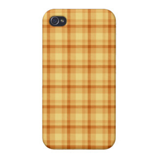 Orange Plaid iPhone 4 Cases