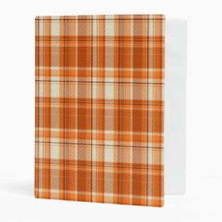 Orange plaid mini binder