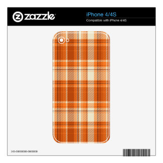Orange plaid skin for the iPhone 4S