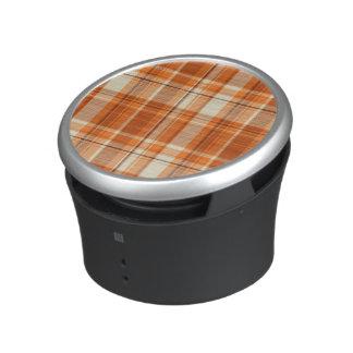 Orange plaid speaker