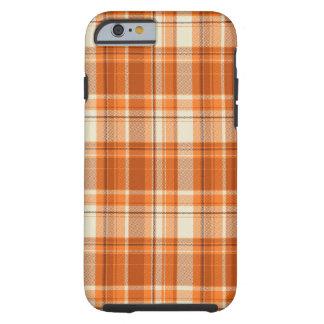 Orange plaid tough iPhone 6 case