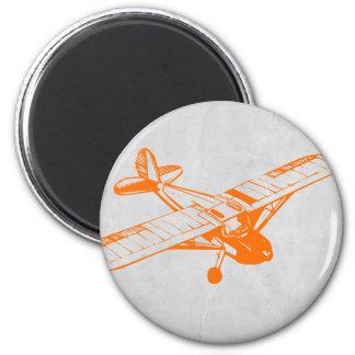 Orange Plane Magnet