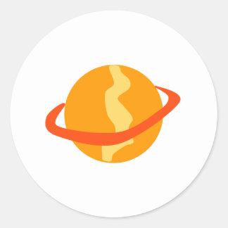Orange Planet Stickers