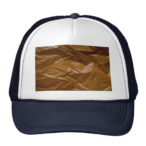 Orange plastic trucker hat
