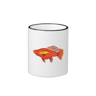 Orange Platy Fish Ringer Coffee Mug