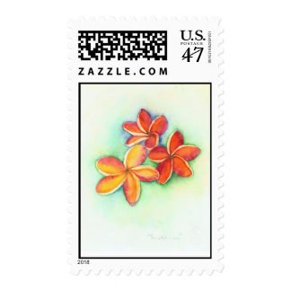 orange plumeria postage