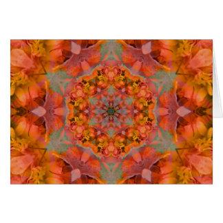 Orange plush mandala - Card