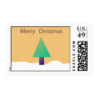 Orange Polka Dot Christmas Postage