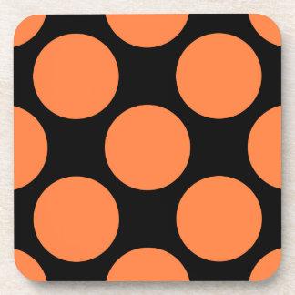 Orange Polka Dot Cork Coaster