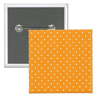 Orange Polka Dot Design 2 Inch Square Button