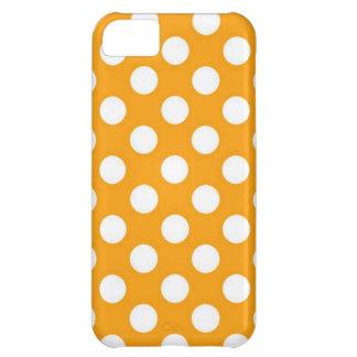 Orange Polka Dot iPhone 5C Cover