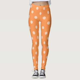 Orange Polka-dot Leggings