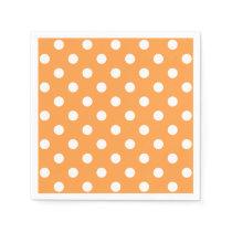 Orange Polka Dot Pattern Paper Napkin