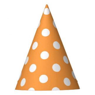 Orange Polka Dot Pattern Party Hat