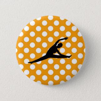 Orange Polka Dot Pinback Button