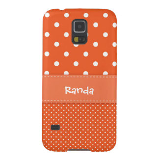 Orange Polka Dot Samsung Galaxy S5 Case