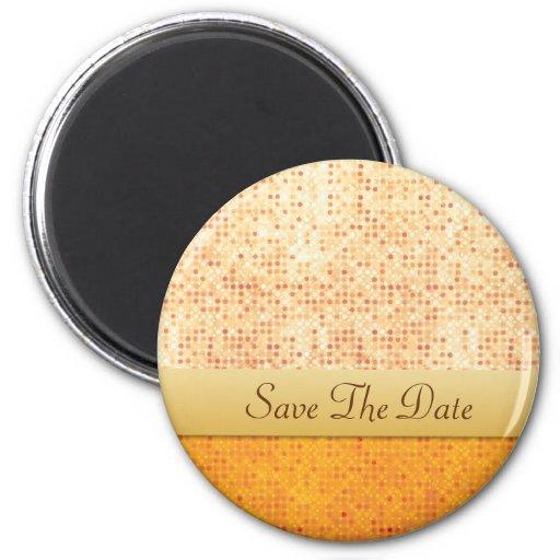 Orange Polka Dot Save The Date Magnet
