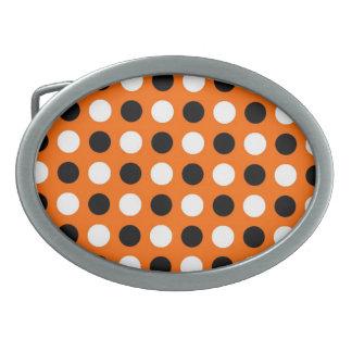 Orange Polka Dots Belt Buckle