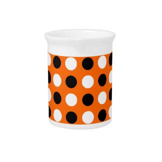 Orange Polka Dots Drink Pitchers