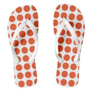 Orange Polka Dots Flip Flops