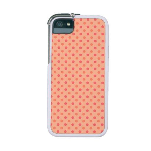 Orange Polka Dots iPhone 5 Covers