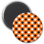 Orange Polka Dots Magnet
