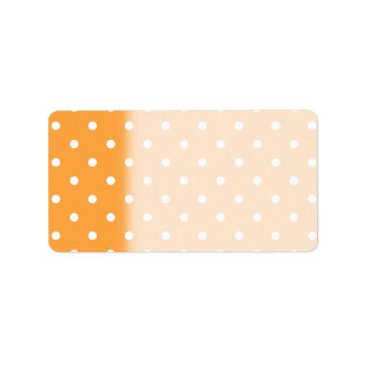 Orange Polka Dots Pattern. Custom Address Labels