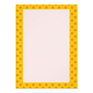 Orange Polka Dots, Pink Background Card