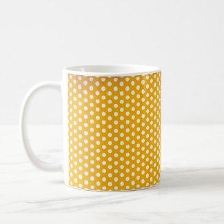 Orange Polkadot Mug zazzle_mug