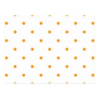 Orange Polkadots Small Postcard