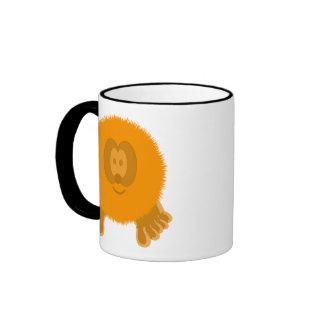 Orange Pom Pom Pal Mug