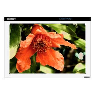 Orange Pomegranate Flower Skins For Laptops