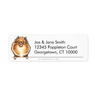 Orange Pomeranian Clean & Simple Label