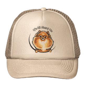 Orange Pomeranian IAAM Trucker Hat