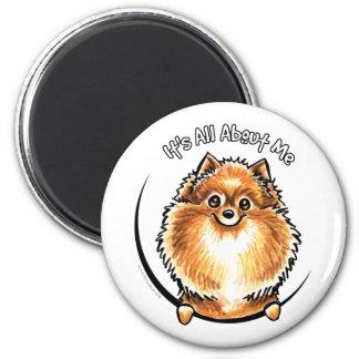 Orange Pomeranian IAAM Magnet
