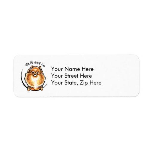 Orange Pomeranian IAAM Return Address Label