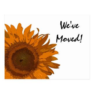 Orange Pop Art Flower Change of Address Post Card