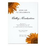 Orange Pop Art Flower Graduation Party Invitation