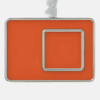 Orange Pop-Bright Orange-Uptown Girl-Designer Christmas Ornament