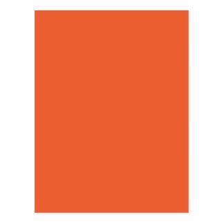 Orange Pop-Bright Orange-Uptown Girl-Designer Postcard