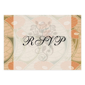 orange poppies art noueveau style large business cards (Pack of 100)