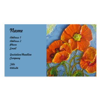 Orange Poppies Business Cards