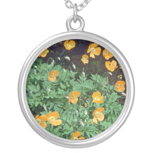 Orange Poppies flowers Jewelry