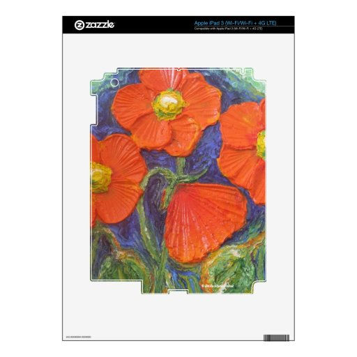 Orange Poppies iPad Skin