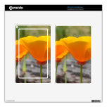 Orange Poppies Kindle Fire Skin